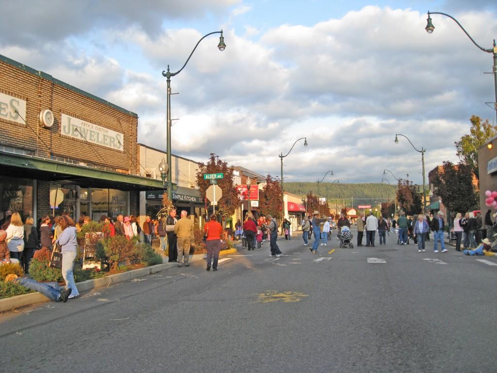 Autumn Evening Main Street