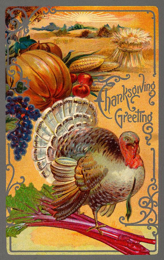 Thanksgiving retro with rhubarb