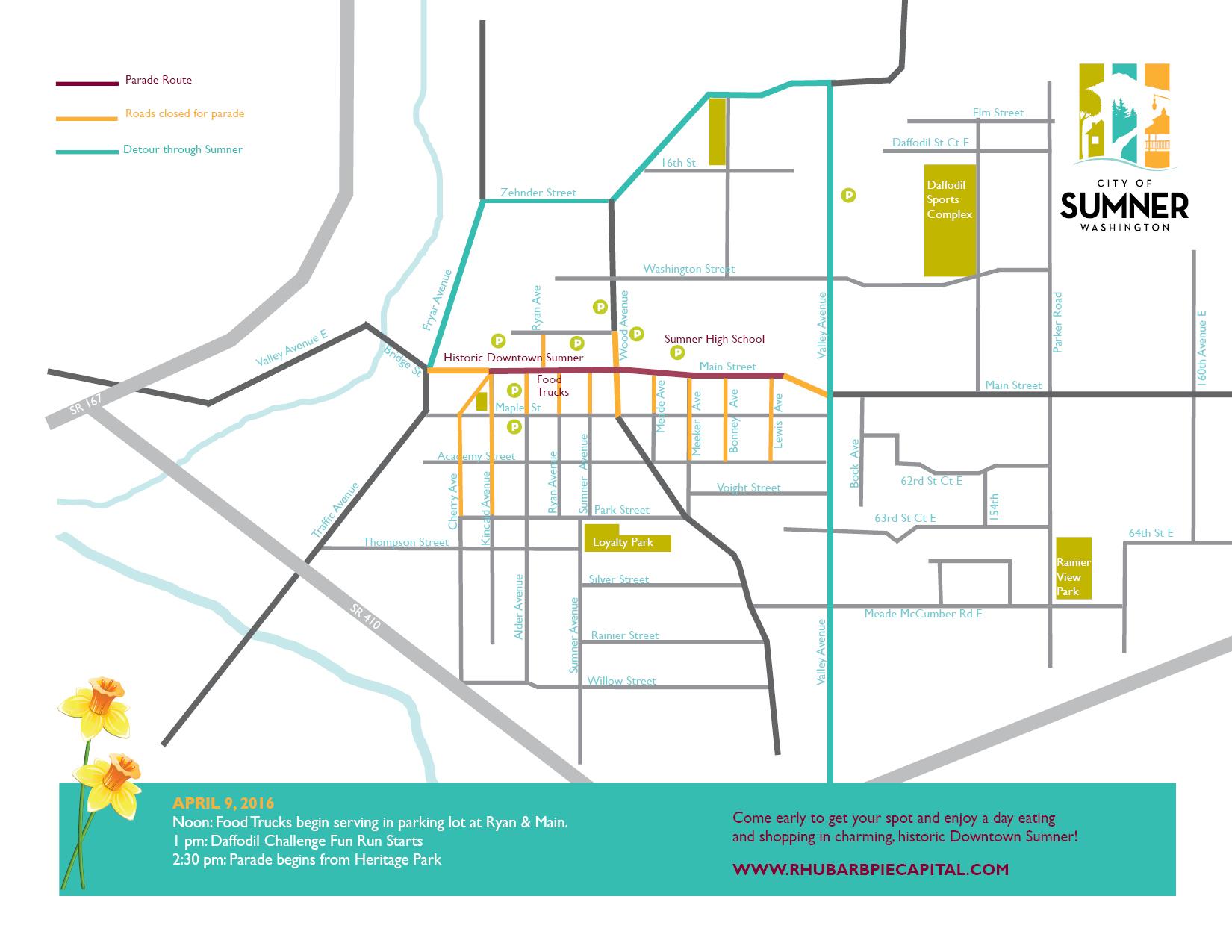 Daffodil Parade Map